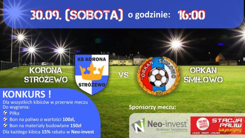 Neo-Invest sponsorem meczu z Orkanem Śmiłowo (https://koronastrozewo.futbolowo.pl)