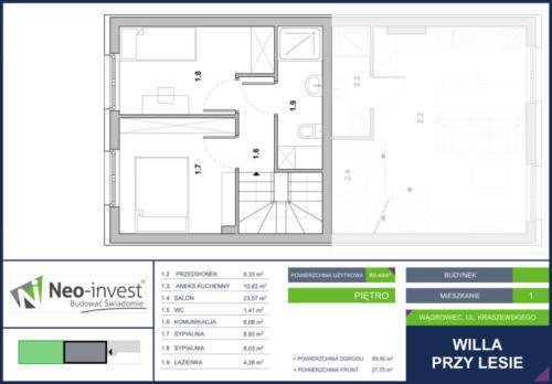 WILLA PRZY LESIE II Wągrowiec - inwestycja realizowana przez firmę NEO INVEST z Budzynia - mieszkania na sprzedaż w Wągrowcu