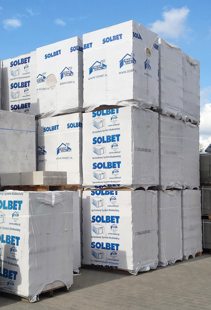 Beton komórkowy SOLBET oraz H+H dostępny od ręki! Hurtownia Materiałów Budowlanych NEO-INVEST Budzyń